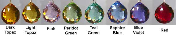 Swarovski feng shui balls in colors